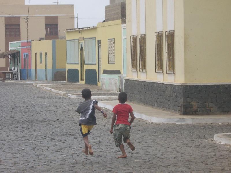 Playing kids in Espargos, Cape Verde