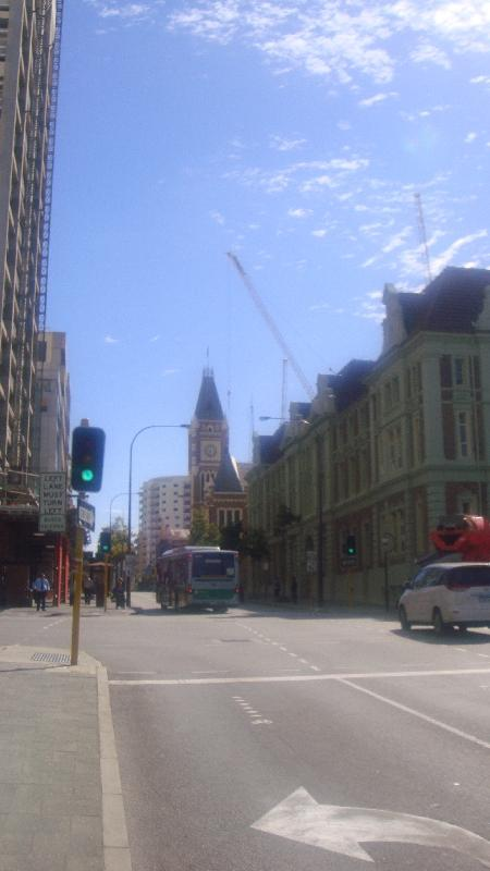 Street panorama of Perth, Australia