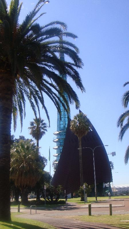 The Swan Bell Tower from the esplanade, Perth Australia