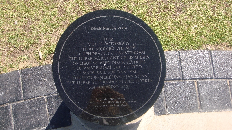Dutch Dirk Hartog monument, Australia