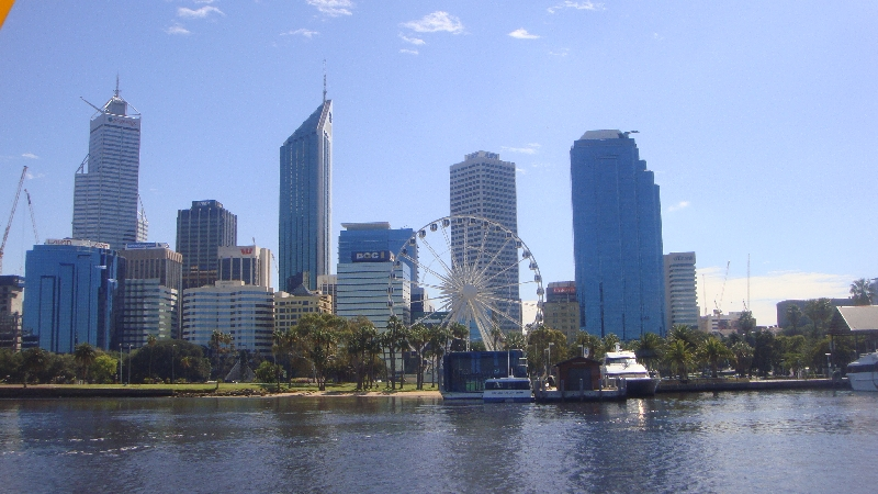 The Perth skyline from the ferry, Perth Australia
