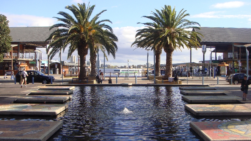 The Ferry dock in Perth, Australia