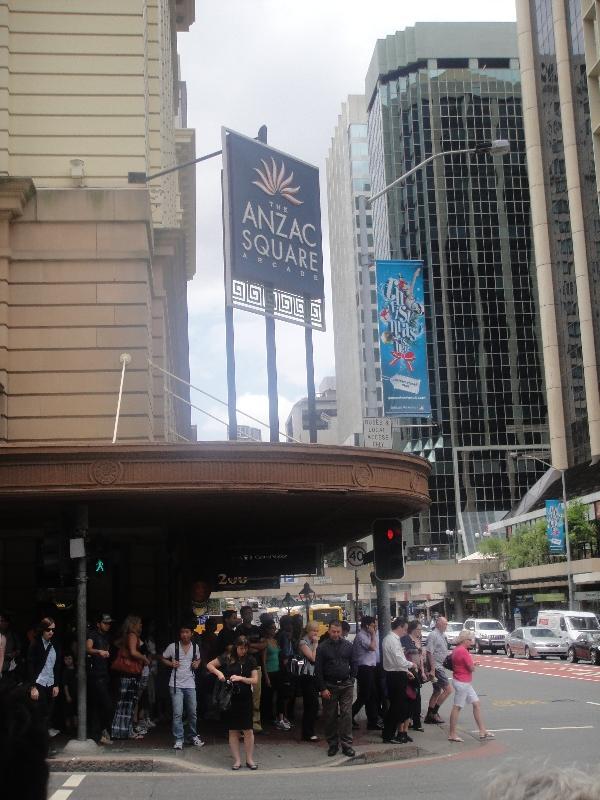 Brisbane Australia Busy Adelaide St