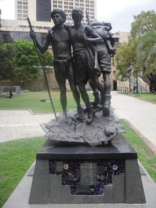 The gardens at Anzac Sqaure, Brisbane Australia