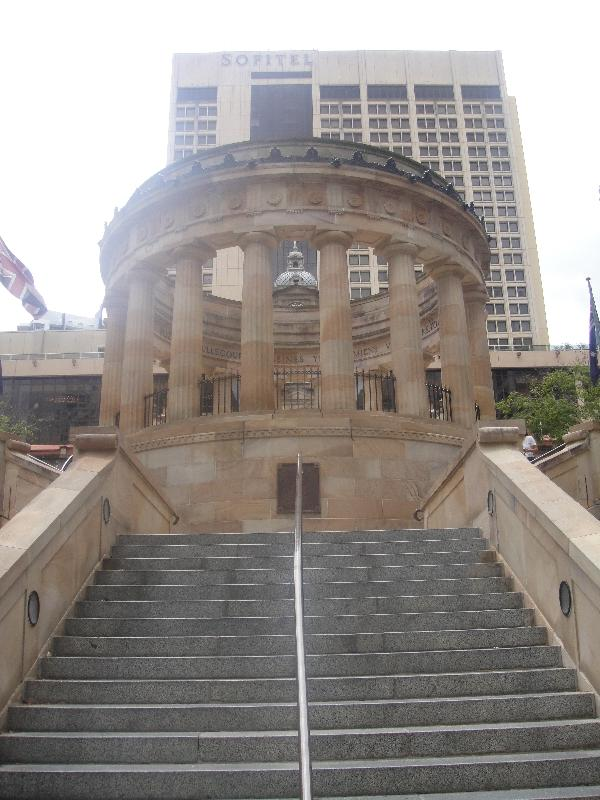 The stairs up Anzac Memorial, Australia