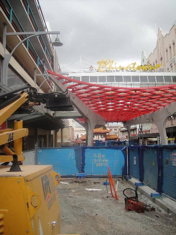 Construction work in Chinatown, Brisbane Australia