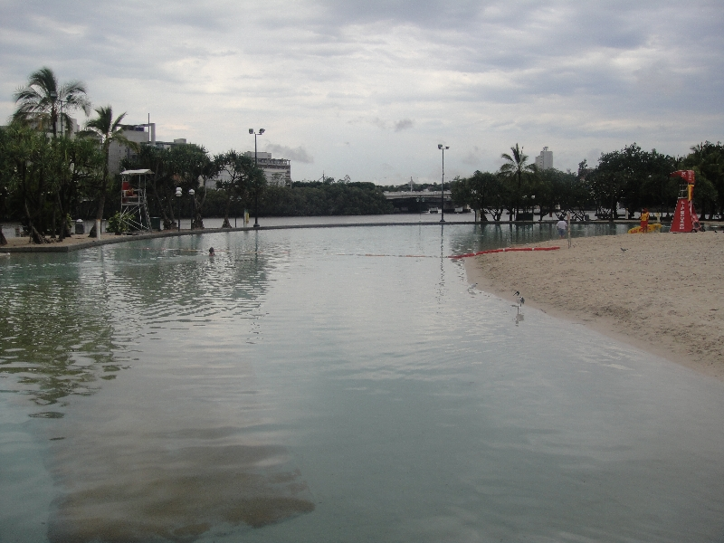 The lagoon at Street Beach, Brisbane, Australia
