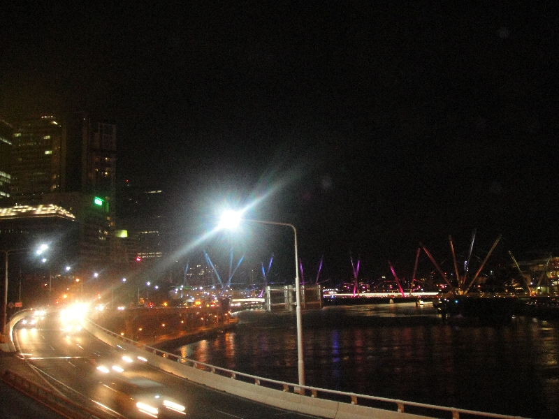 Pictures of Brisbane at night, Australia