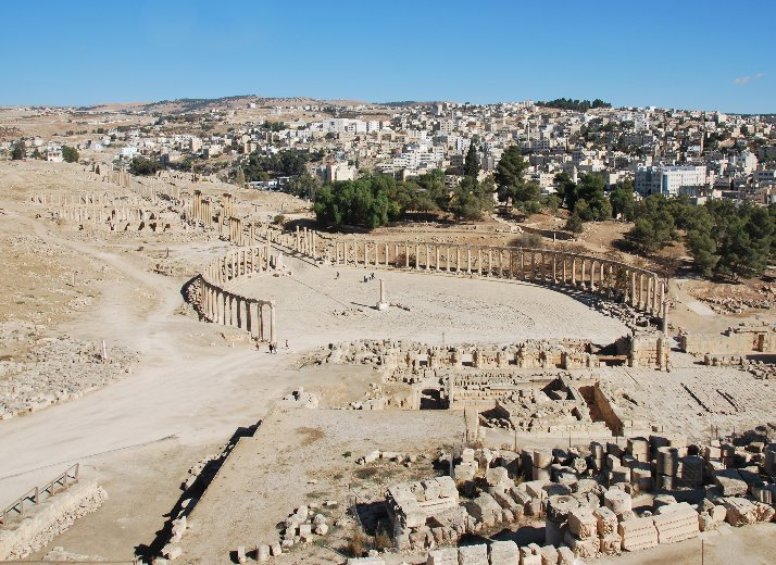 Pictures of the Roman remains in Jordan, Jerash Jordan