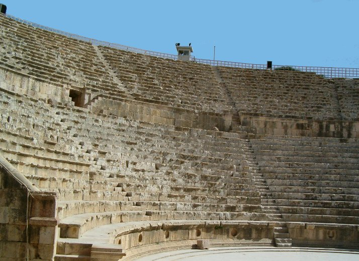 The Roman amphitheatre in Jerash, Jordan