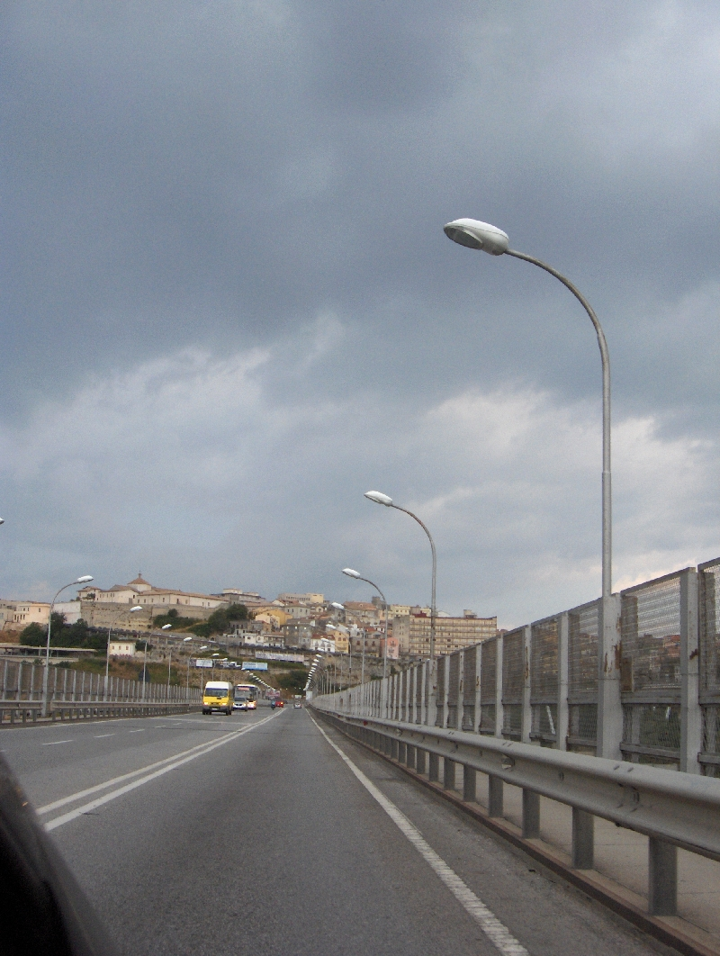 Traffic on Catanzaro Bridge, Calabria, Italy