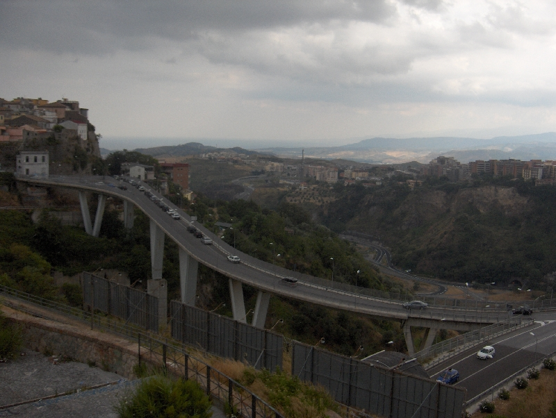 The Catanzaro Bridge in Calabria, Italy