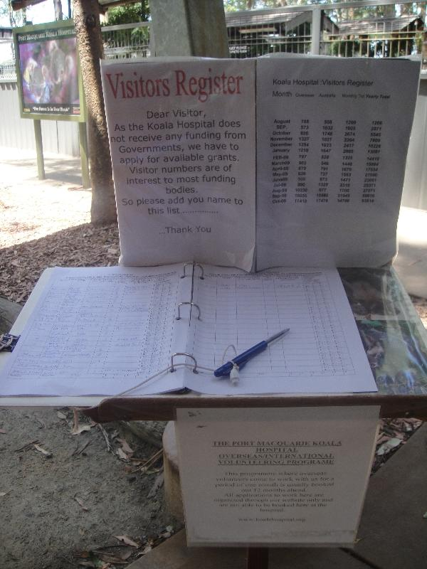 Register at the Koala Hospital, Australia