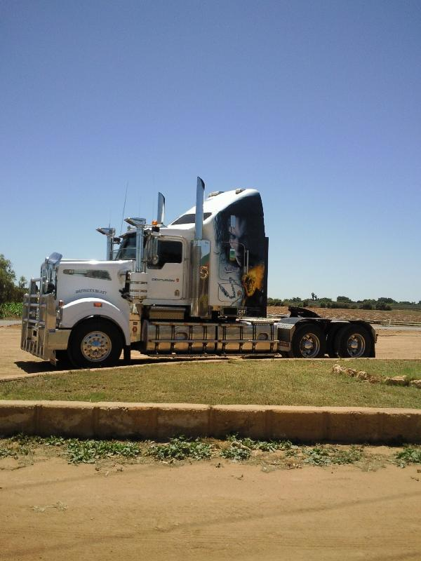 The big trucks in Carnarvon, Australia