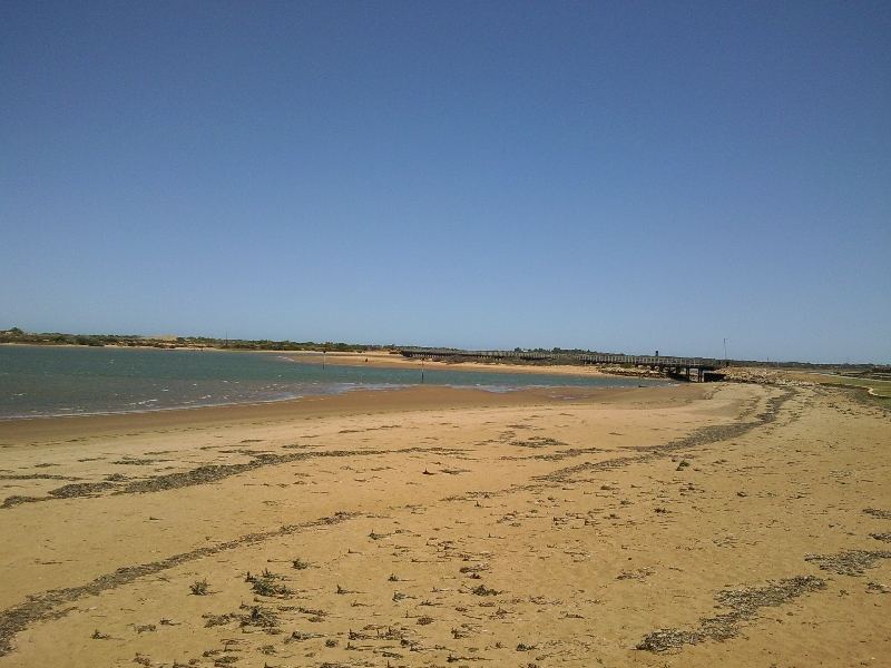 The beach in Carnarvon, Australia