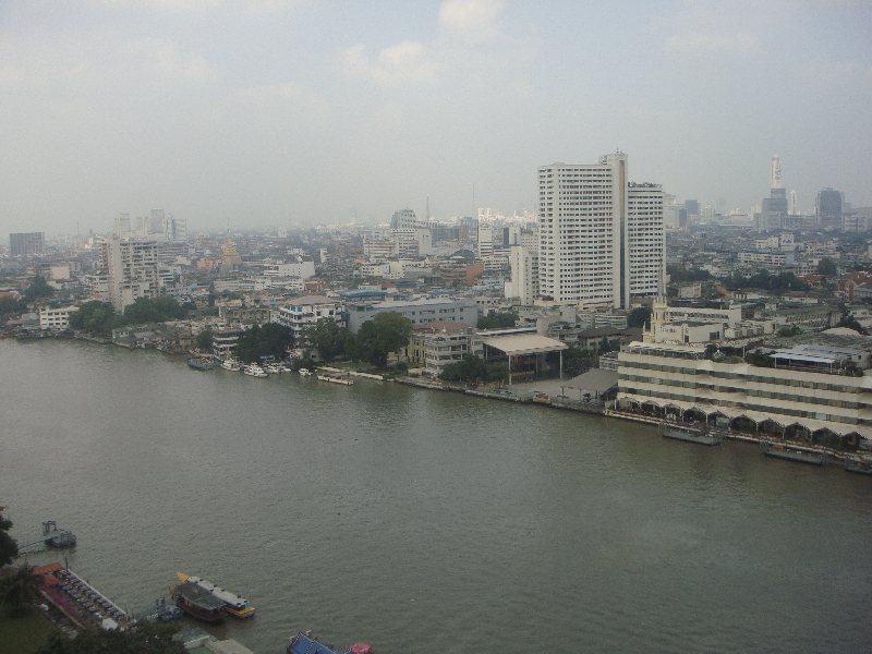 River view from Bangkok hotel, Bangkok Thailand