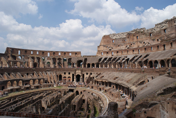 Rome Italy Inside the colosseum