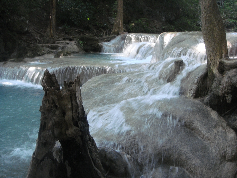 Amazing rock pools at Erawan, Thailand