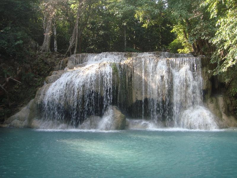 Gorgeous waterfalls near Kanchanaburi, Thailand