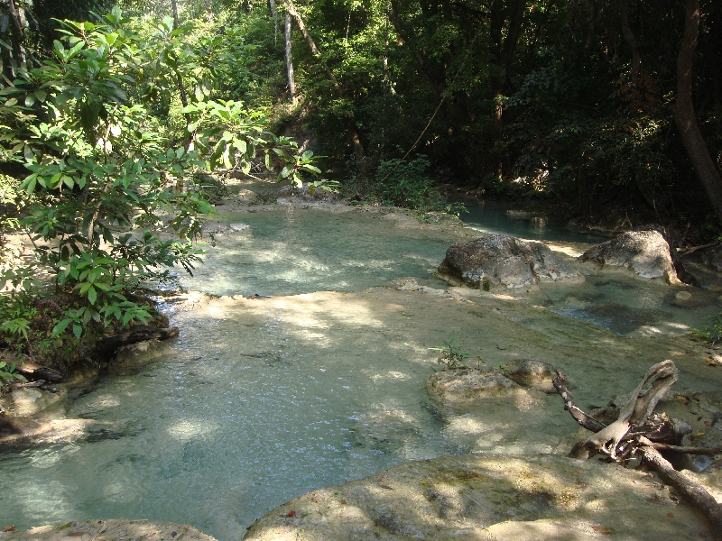 The Erawan hiking trail, Kanchanaburi Thailand