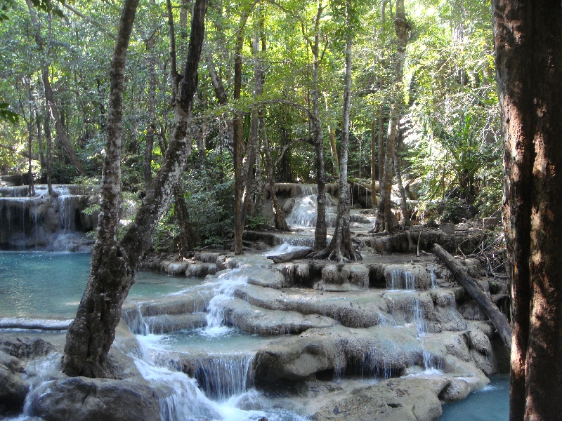 Photos of Erawan Waterfalls, Kanchanaburi Thailand