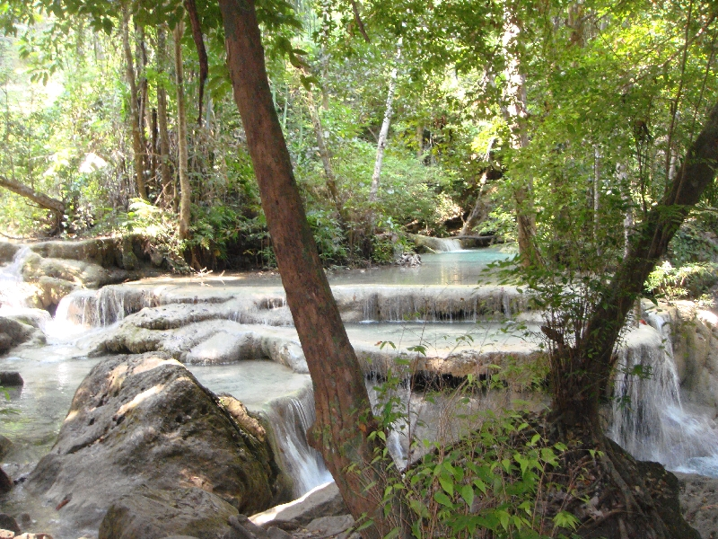 Forest bush and amazing waterfalls, Kanchanaburi Thailand