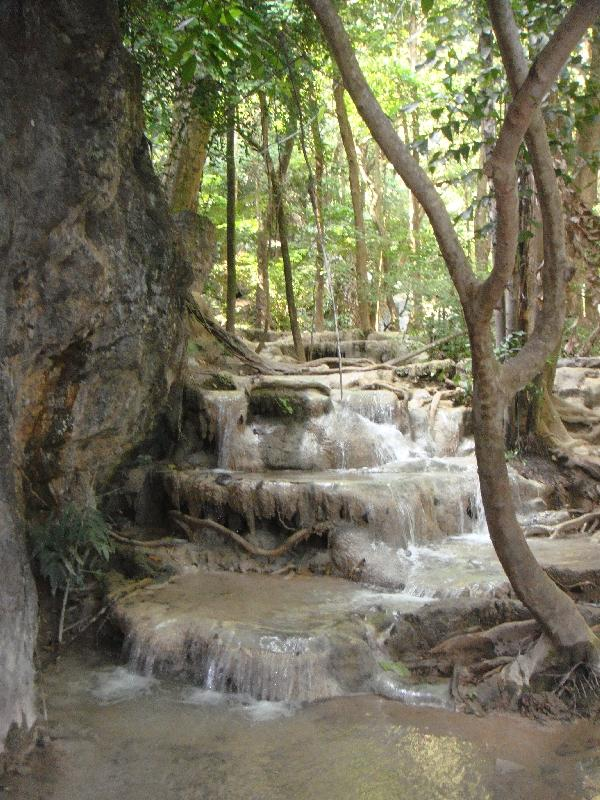 Hiking through the Erawan park, Kanchanaburi Thailand