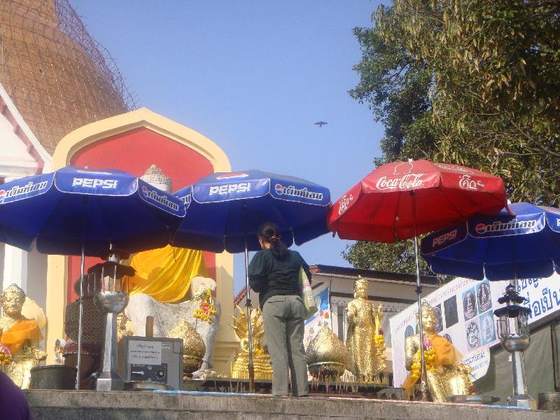 Locals visiting Phra Pathom, Thailand