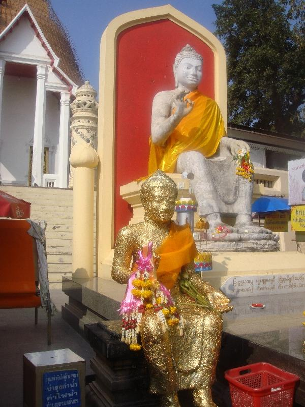 Enthroned Buddha at Pathom Chedi, Nakhon Pathom Thailand