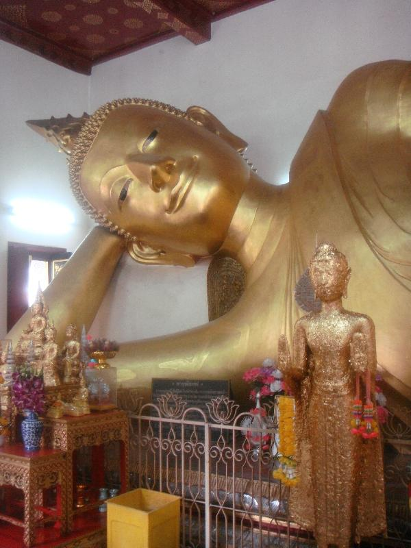 Reclining Buddha in Nakhon Pathom, Nakhon Pathom Thailand