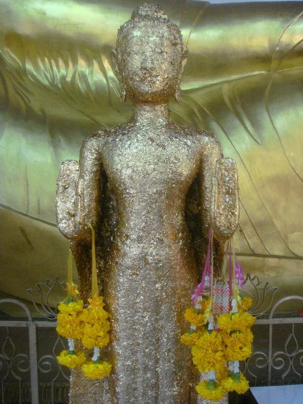 Golden Buddha statue in Nakhon Pathom, Thailand