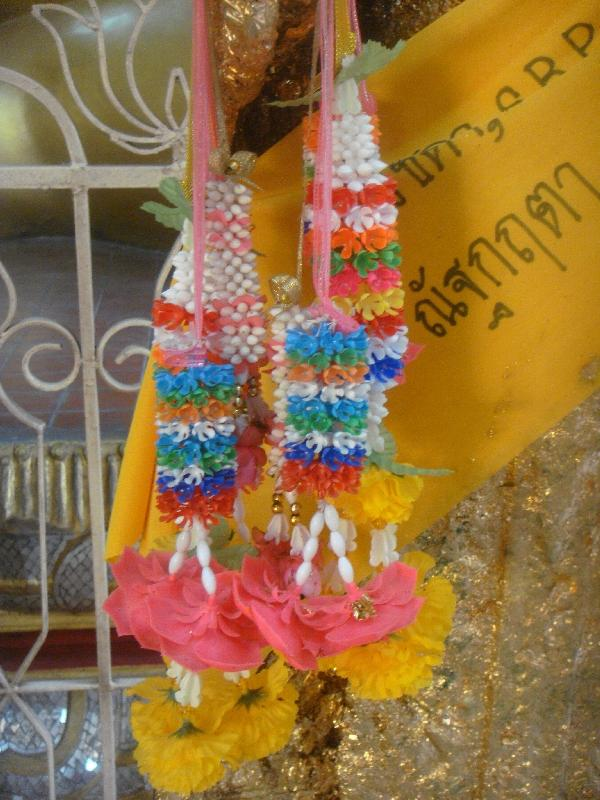 Beautiful Thai Buddhist necklaces, Nakhon Pathom Thailand