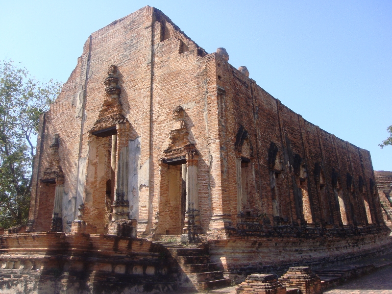 The temple of Wat Gudidao Ayutthaya Thailand Asia