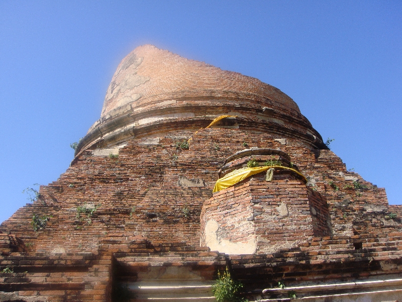Sacked Chedi at Wat Gudidao, Thailand