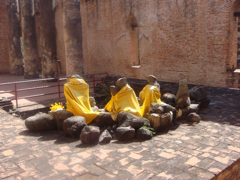 Beheaded Buddha statues in Ayutthaya, Thailand