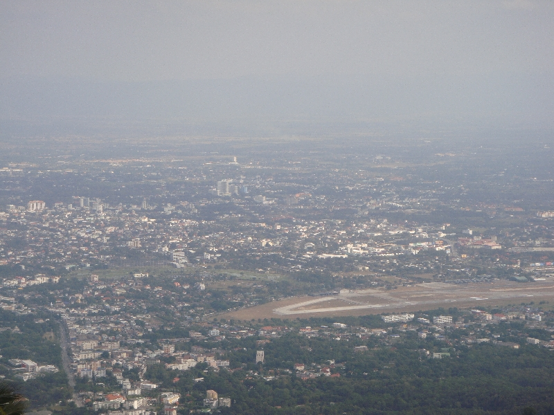 Panoramic view from Doi Suthep, Chiang Mai Thailand