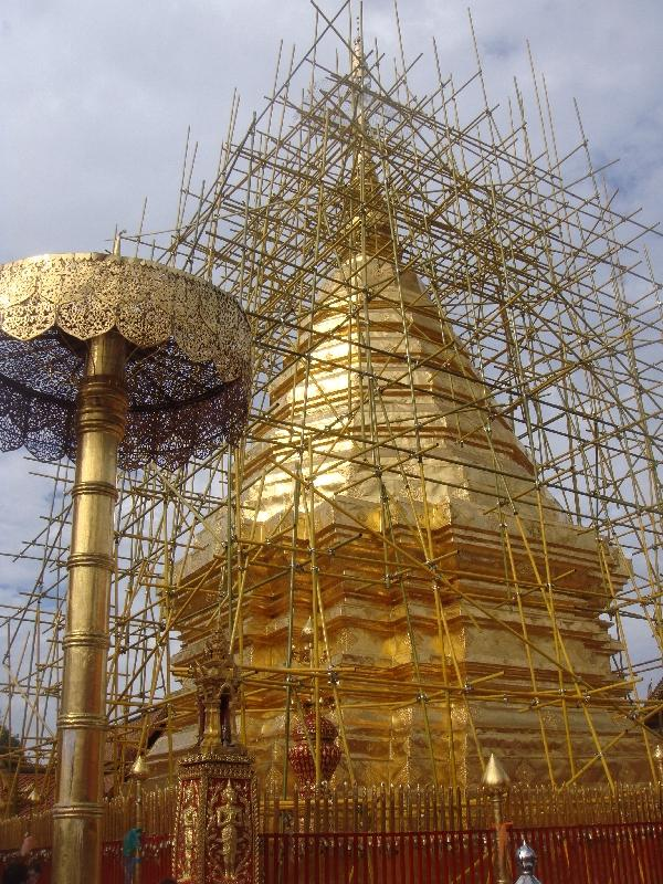 Chedi at Doi Suthep in Chiang Mai, Thailand