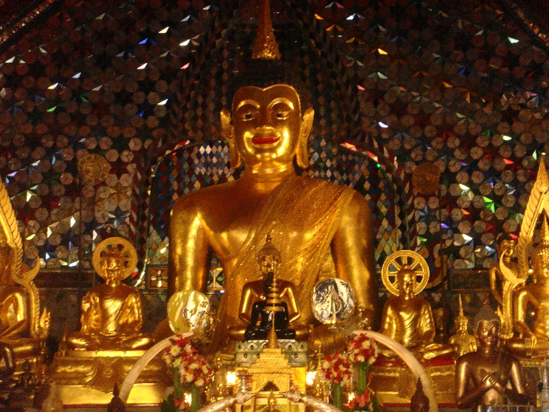 Golden Buddha statues in Chiang Mai, Thailand