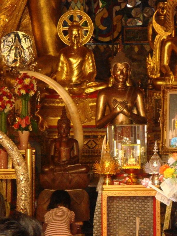 Golden shrines in the monastery, Thailand