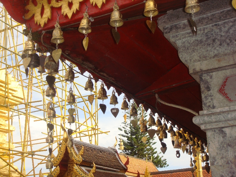 Offerings at Wat Phrathat Doi Suthep, Thailand