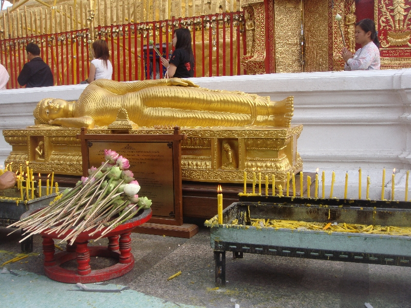 The reclining Buddha of Wat Doi Suthep, Chiang Mai Thailand