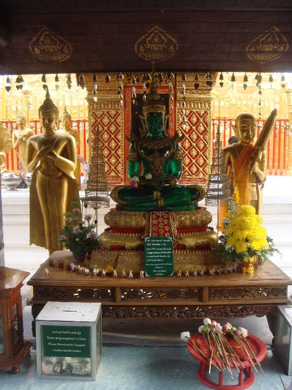 Shrines at Wat Phrathat Doi Suthep, Chiang Mai Thailand