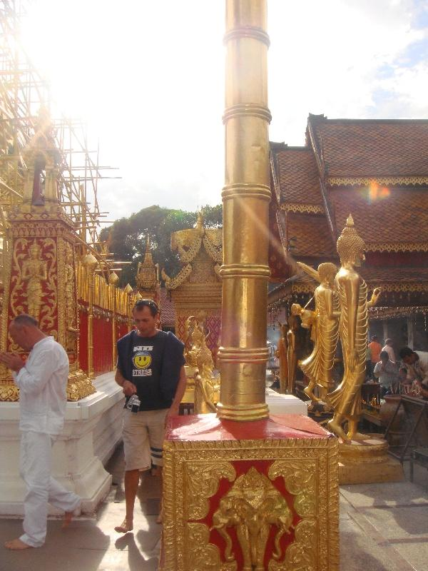 Walking on the grounds of Wat Doi Suthep, Thailand