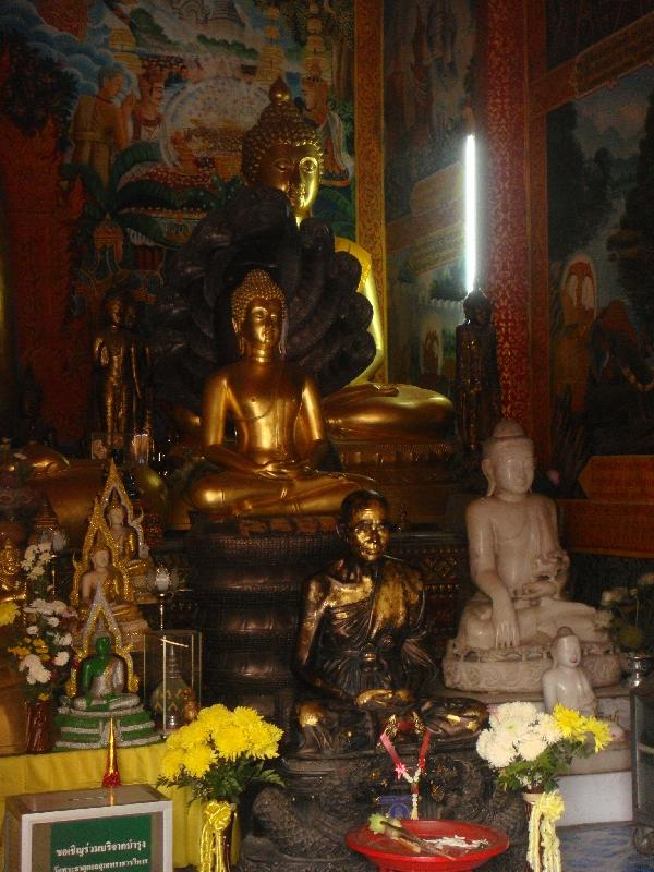 Inside a temple at Doi Suthep, Thailand