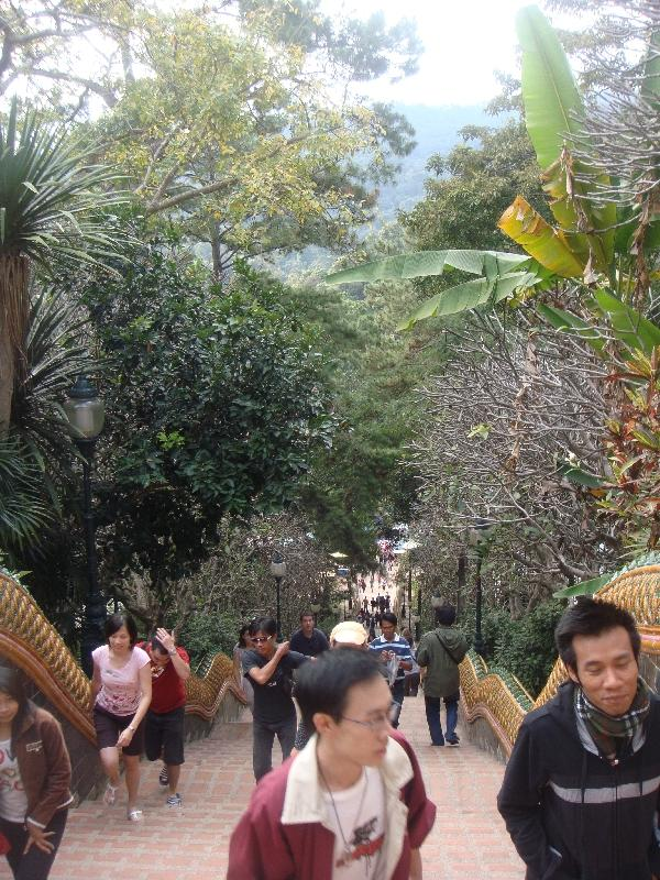 Stairs to Wat Phrathat Doi Suthep, Thailand