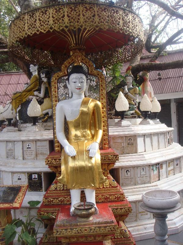 Buddhist statue at the entrance, Thailand