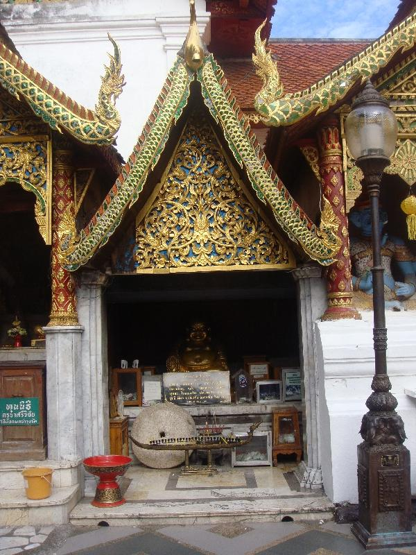 Entrance of a Buddhist Temple, Chiang Mai Thailand
