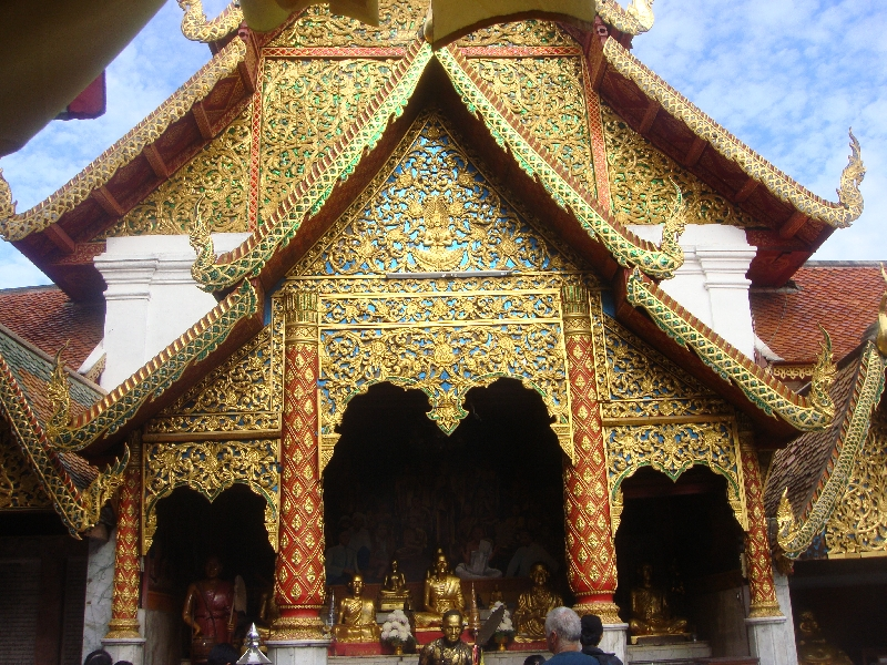 Decorated Temple at Doi Suthep, Chiang Mai Thailand
