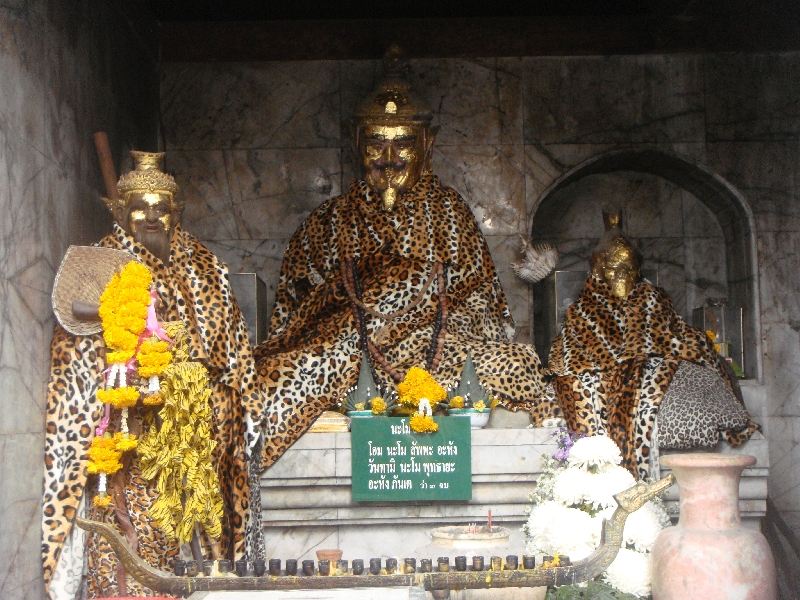 Buddhist altar on Doi Suthep, Chiang Mai Thailand