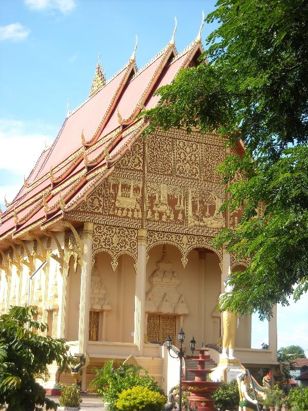 Pictures of Buddhist temple in Vientiane, Laos